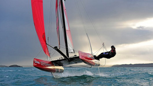 The Flying Phantom: US$40k sailboat levitates two feet above the waves